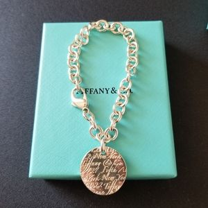 Tiffany & Co. Notes Round Tag Bracelet